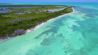 Blue Ocean on Tropical Island