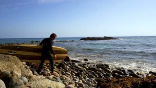 Carrying Surfboards To the Water