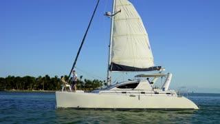 Catamaran with Couple