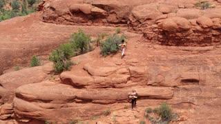 Climbing Red Rocks in Sedona with Yoga Mats