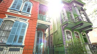 Colorful New Orleans House Entrance, Beautiful French Architecture (Close)