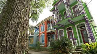 Colorful New Orleans Houses and Hotels, Beautiful French Architecture
