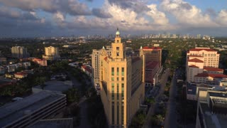 Coral Gables Flyover at Sunset by Aerial Drone