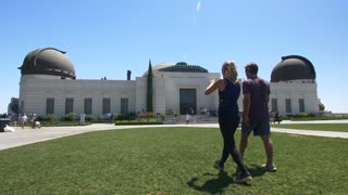 Couple at Griffith Park Observatory