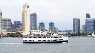 Dinner Cruise Party Boat in Front of Downtown San Diego