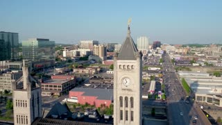 Downtown Nashville by Aerial Drone