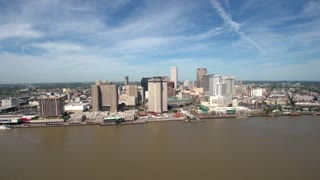 Drone Shot of New Orleans Skyline, Buildings