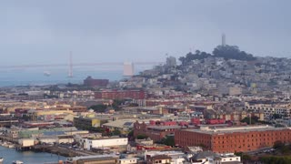 Fisherman's Wharf San Francisco Flyover by Aerial Drone