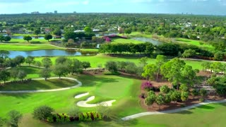 Golf Course with Sand and Water Features
