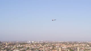 Helicopter Flying Over Los Angeles