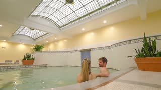 Historic Bath and Skylight with Happy Couple, Slow Motion