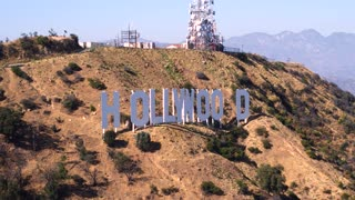 Hollywood Sign Drone Shot