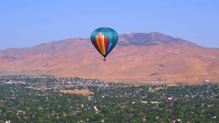 Hot Air Balloon Over City of Reno