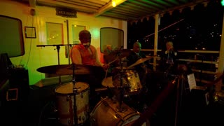 Jazz Band Performs on Riverboat Night Cruise (New Orleans)