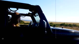 Jeep Pulls Over in Big Sur
