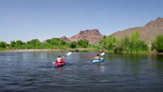 Kayakers On a Desert River