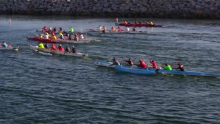 Kayaking Competition by Aerial Drone