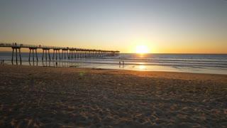 LA Beach Sunset Tracking Shot