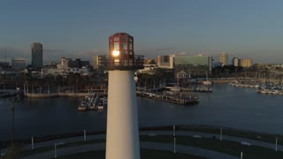 Long Beach Lighthouse by Aerial Drone