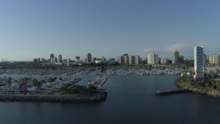 Long Beach Marina by Aerial Drone