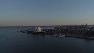 Long Beach Shipyard by Aerial Drone