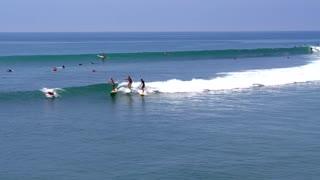 longboard Surfers in Malibu