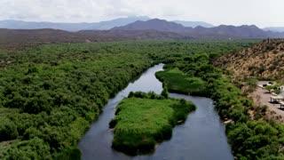 Lush River Banks in a Desert