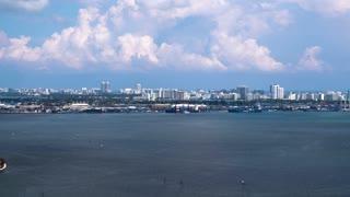 Miami Harbor by Aerial Drone