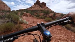 Mountain Biking over Red Rocks in Sedona