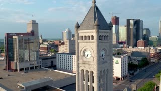 Nashville Cityscape by Aerial Drone