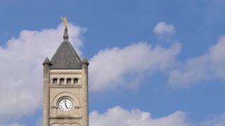 Nashville Clocktower by Aerial Drone