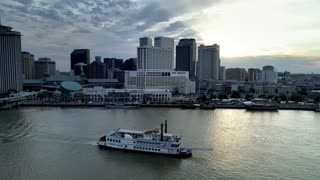 New Orleans Riverboat with Skyline