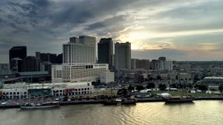 New Orleans Skyline and River, Sunset