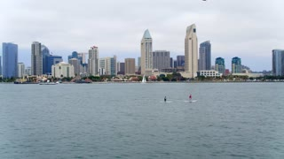 Paddleboarders in San Diego Bay