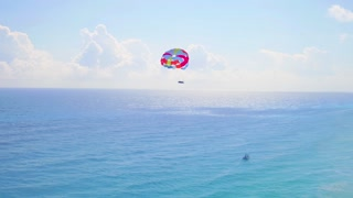 Parasailing in the Caribbean by Aerial Drone