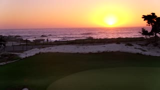 Pebble Beach Golf Course at Sunset