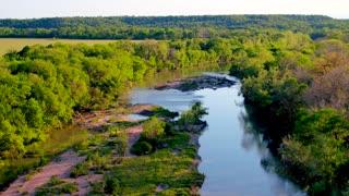 River Through Green Trees