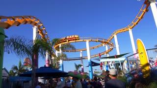 Roller Coaster at the Santa Monica Pier