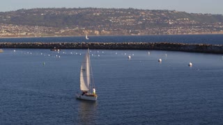 sailboat in Redondo Harbor