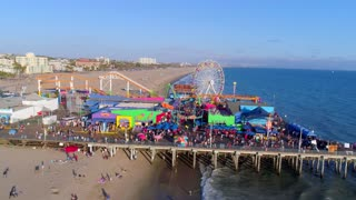 Santa Monica Pier and the Pacific Park