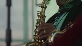 Saxophone Player, New Orleans Riverboat Cruise