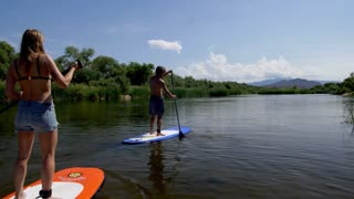 Stand Up Paddleboarders on the Salt River