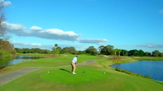 T Shot from Golfer