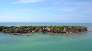 View of Tropical Island by Aerial Drone
