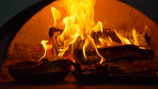 Wood Fire Oven Tracking Shot