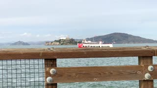 View from dock of Ferry in San Francisco Bay 2