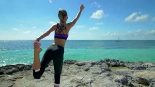Yoga in Paradise on Tropical Beach Coast 2