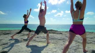 Yoga in Paradise on Tropical Beach Coast 3