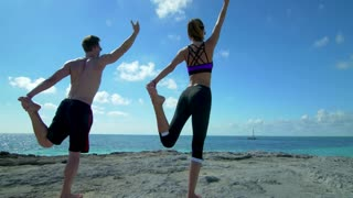 Yoga in Paradise on Tropical Beach Coast 5