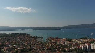 Aerial Video of Porto Montenegro. Tivat city. September 2016 ultrahd